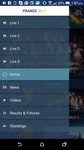 France 2017 Handball WC Live screenshot 2