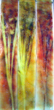 Photo: 'Autumn', 2005 - fused glass and metals, hanging - 3 x 11x74cms - SALE PRICE £180
