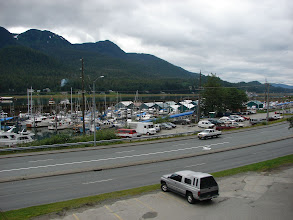 Photo: The Aurora harbor in Juneau from the Breakwater Inn.