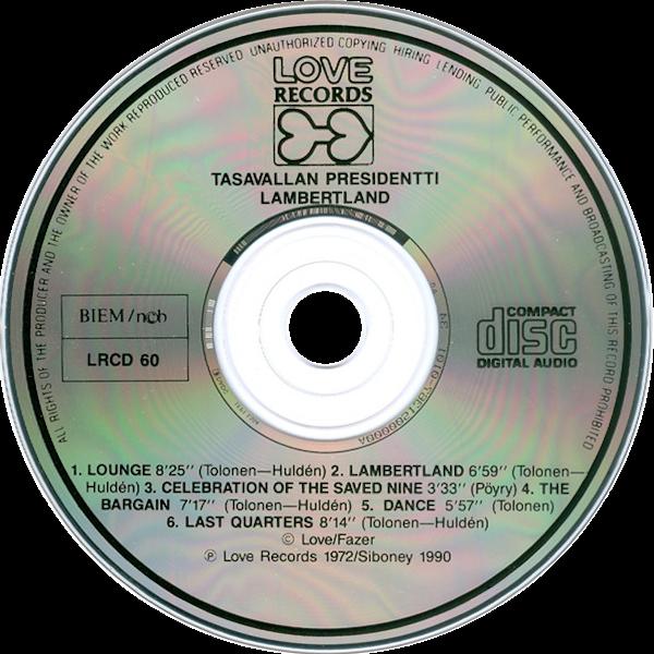 Tasavallan Presidentti: Lambertland -cd