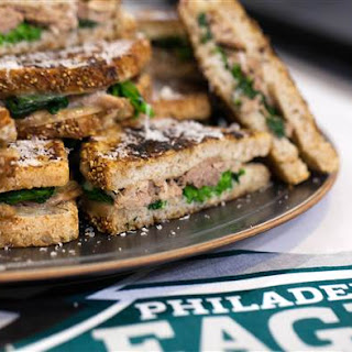 Grilled Cheese with Pulled Pork and Broccoli Rabe Recipe