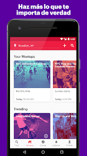 Meetup: eventos locales Screenshot
