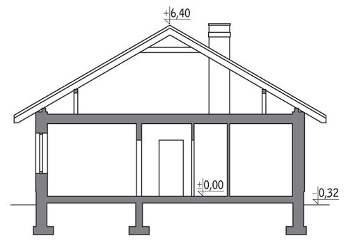 Własny dom - C303 - Przekrój