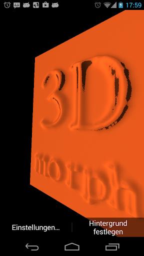3D Morph Free Live Wallpaper