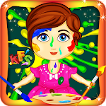 Baby Face Paint Wash Salon Icon