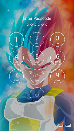 Vegeta Fan Anime Lock Screen Wallpaper Screenshot 7