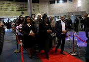 The family and friends of Uyinene Mrwetyana at her funeral in East London.