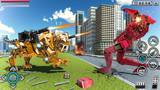 Tiger Robot Transforming Games : Robot Car Games 1.0.9 screenshots 3