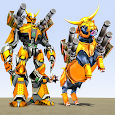 Bull Robot Car Transforming Games: Robot Shooting