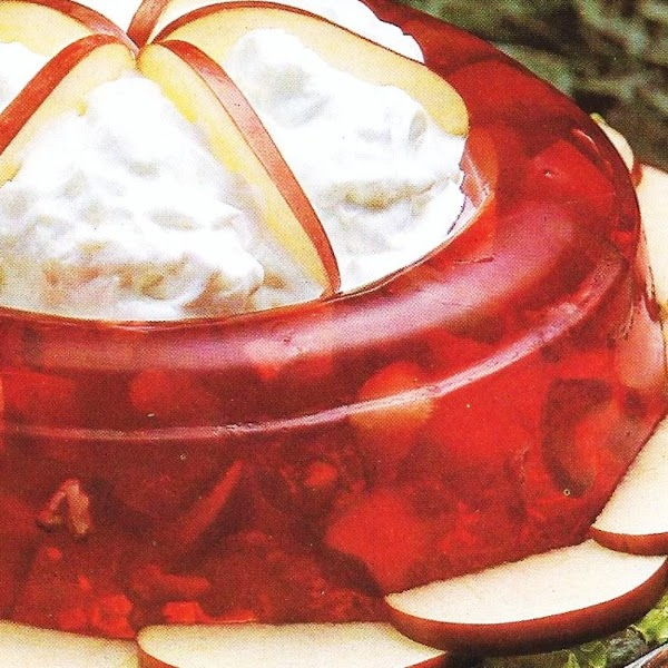Crown Jello Salad With Fluff Dressing Recipe