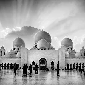 Grand Mosque by Jon de Guzman Jr - Buildings & Architecture Other Exteriors ( mosque, black & white, architecture, worship, landscpae )