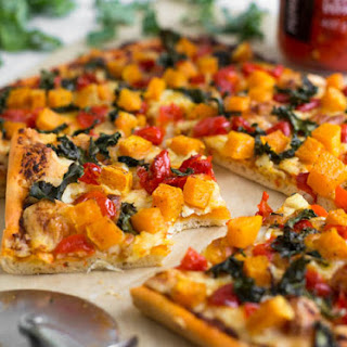 Spicy Butternut Squash Pizza With Crispy Kale.