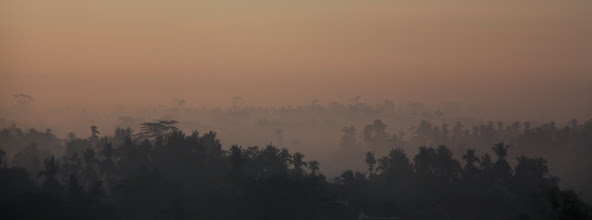 Photo: Sunrise over the Kedu plain , Borobudur