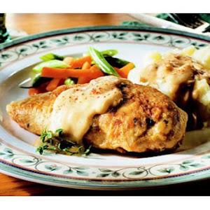 Lower-Fat Fried Chicken With Creamy Gravy