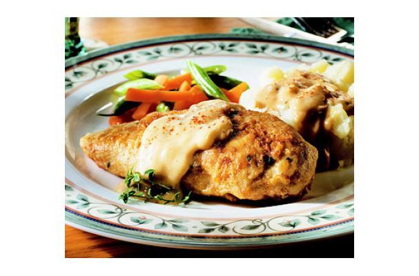 Lower-Fat Fried Chicken with Creamy Gravy Recipe