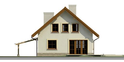 Dom przy Pomarańczowej - Elewacja tylna