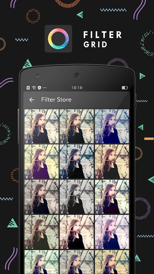 FilterGrid - Photo Editor: captura de tela