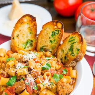Pasta e Fagioli Soup (Italian Pasta and Bean Soup).