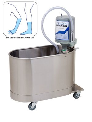 These small Whitehall Whirlpool Baths are ideal for treating patients who could benefit from hot or cold therapy. These hydrotherapy tubs are intended for use on upper and lower extremities.
