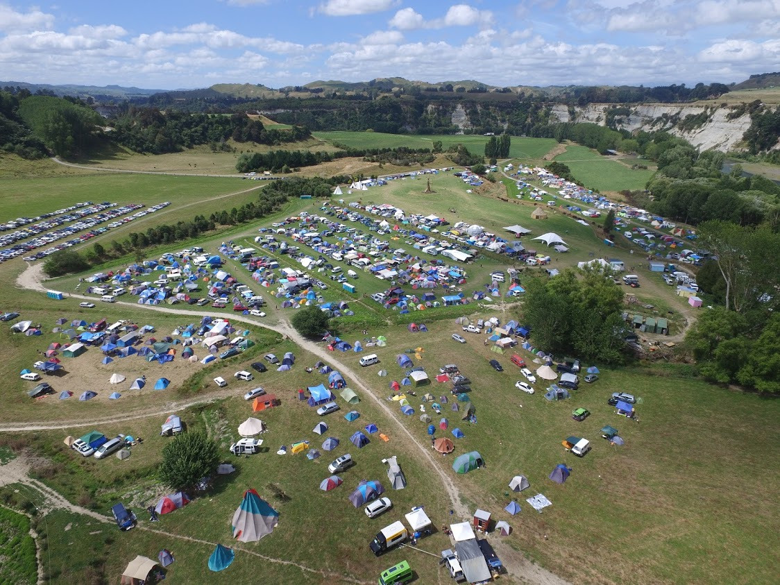 An aerial view of the Paddock.