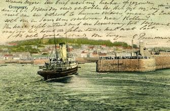 Photo: Guernsey. (Date poststamp: August 10, 1903)
