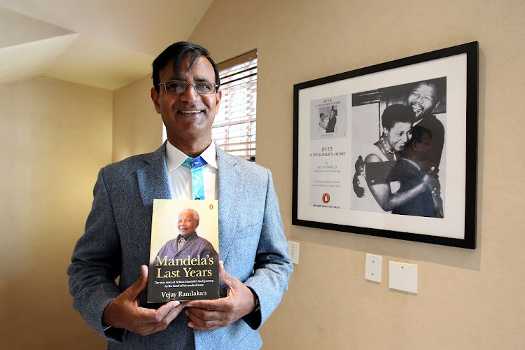 Pulped: Retired doctor Vejay Ramlakan's book on Nelson Mandela's final years was withdrawn by publisher Penguin Random House SA after Mandela's family threatened legal action. Picture: SANDILE NDLOVU
