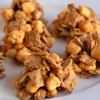 No-Bake Marshmallow-Butterscotch-Chex Cookies