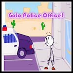 Stickman Go to Police Office Icon