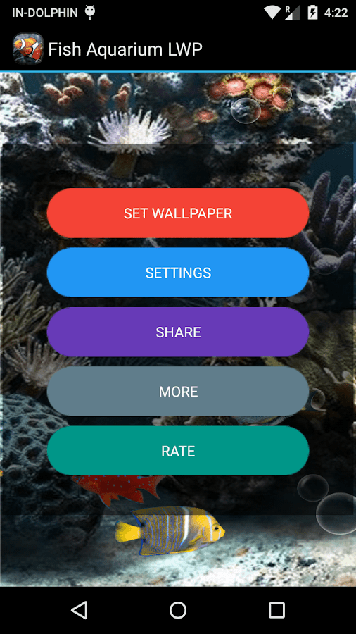 Fish aquarium live wallpaper android apps on google play for Fish tank app