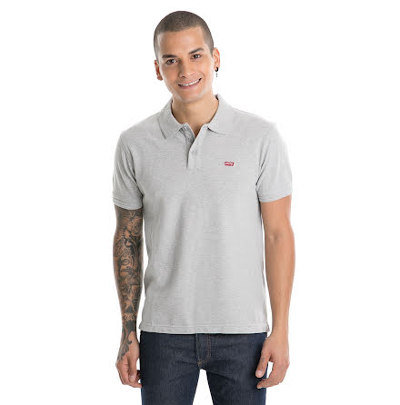 Levi's housemark polo medium grey
