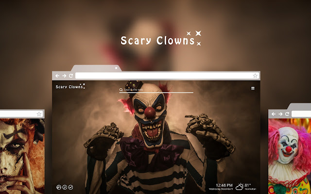 Scary Clowns HD Wallpaper New Tab Theme