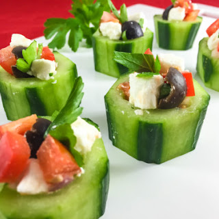 Cucumber Cups With Feta And Veggies