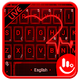 Live 3D Red Neon Heart Keyboard Theme apk