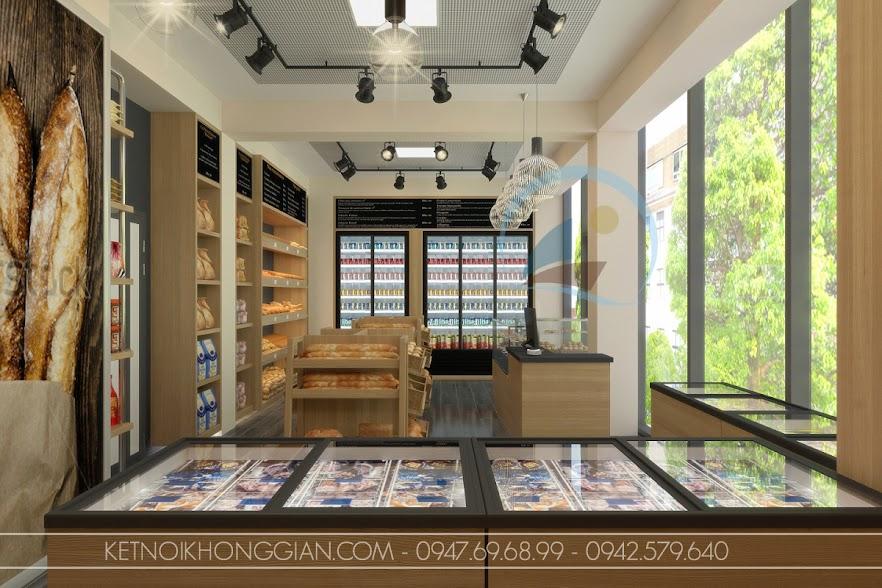 thiết kế nội thất siêu thị mini