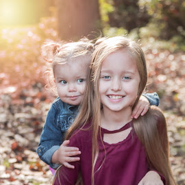 Sisters by Jenny Hammer - Babies & Children Children Candids ( pretty, fall, children, sisters, girls, cute, colors )