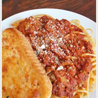 Homemade Spaghetti Sauce.
