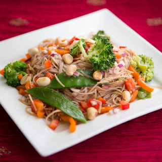 Noddle Salad with Shallot and Red Pepper Dressing