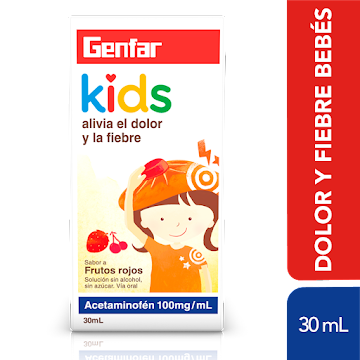 Acetaminofen Genfar Kids   100mg/mL Gotas Frasco x 30ml