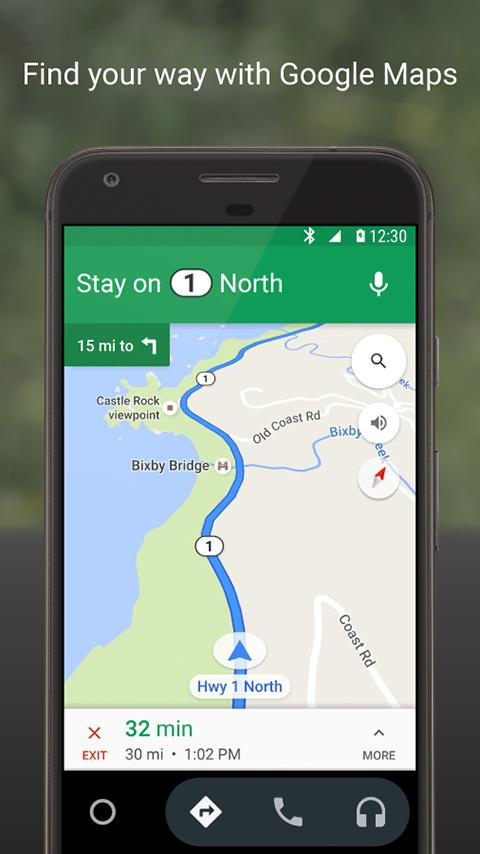 Android Auto – Screenshot