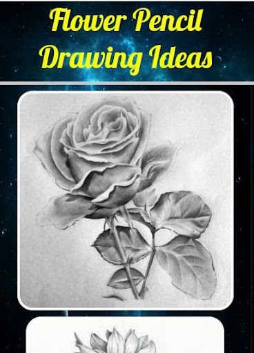 Flower Pencil Drawing Ideas 4.0 screenshots 2