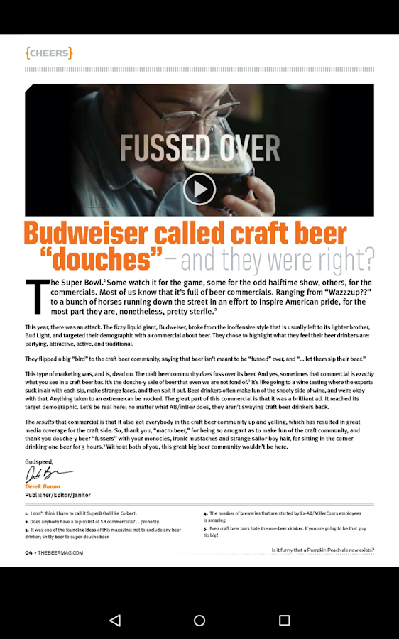 Beer Magazine- screenshot