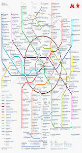 Carte Metro MOSCOW Map - náhled