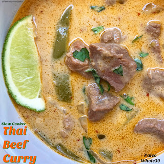 Slow Cooker Thai Beef Curry (Paleo/Whole30).