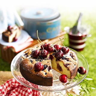 Almond Cherry Berry Cake