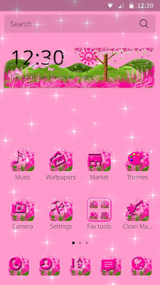 Pink Flower Theme - screenshot