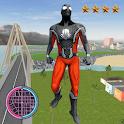 Grand Amazing BlacK Spider Rope Hero City Rescue icon