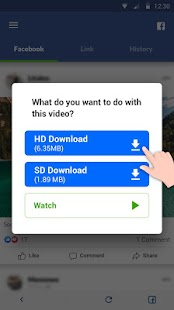 Video Downloader for Facebook Video Downloader Screenshot