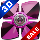 Next Launcher Theme Pink Gear icon