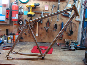 Photo: Fully brazed, those dropouts are still piping hot.
