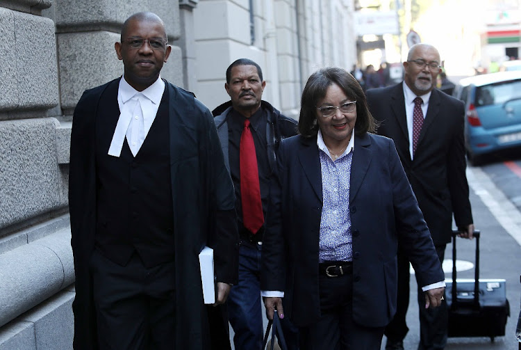 Cape Town Mayor Patricia de Lille and her lawyer Adv Dali Mpofu arriving at the Western Cape High Court on Monday, 4 June 2018.